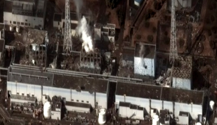 Damage after an earthquake and tsunami at
