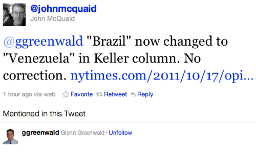 Twitter   johnmcquaid  ggreenwald  Brazil now c