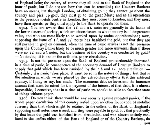Report of the Committee of Secrecy on the Bank of England charter with the minutes of evidence apx and index   Google Books 26
