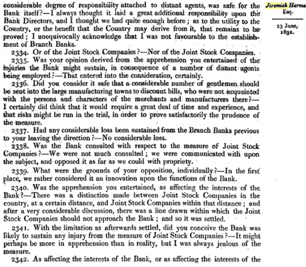 Report of the Committee of Secrecy on the Bank of England charter with the minutes of evidence apx and index   Google Books 31