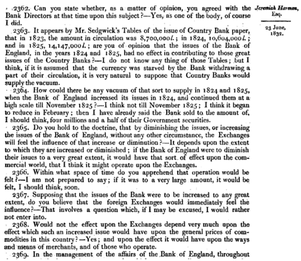 Report of the Committee of Secrecy on the Bank of England charter with the minutes of evidence apx and index   Google Books 35