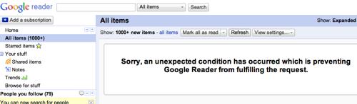 Google Reader  1000+