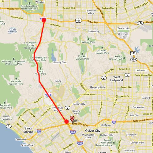 Interstate 405 los angeles  Google Maps