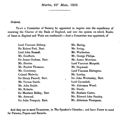 Report of the Committee of Secrecy on the Bank of England charter with the minutes of evidence apx and index   Google Books 2