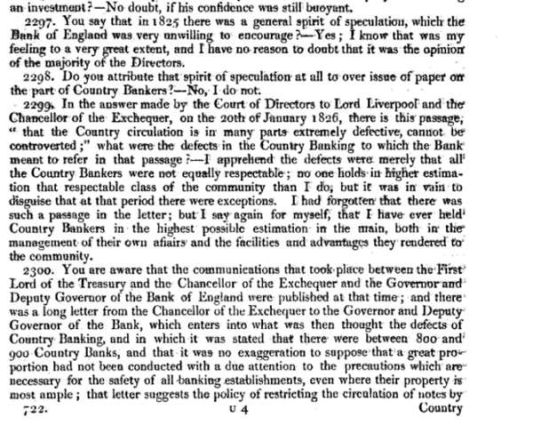 Report of the Committee of Secrecy on the Bank of England charter with the minutes of evidence apx and index   Google Books 24