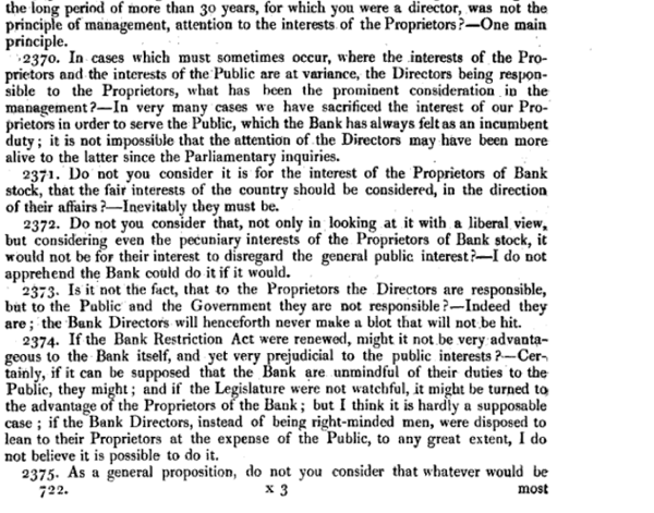 Report of the Committee of Secrecy on the Bank of England charter with the minutes of evidence apx and index   Google Books 36