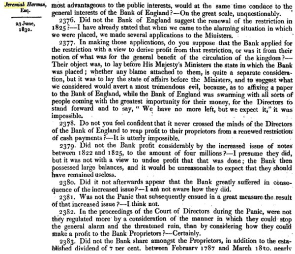 Report of the Committee of Secrecy on the Bank of England charter with the minutes of evidence apx and index   Google Books 37