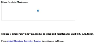 BSpace Down for Maintenance
