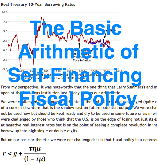 The Simple Arithmetic of Self-Financing Fiscal Policy