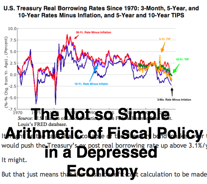 Brad DeLong Lunch March 14 2012 The Not So Simple Arithmetic of Fiscal Policy in a Depressed Economy