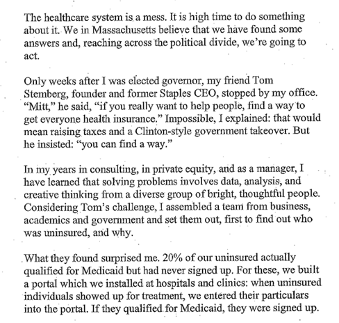 Romney Emails on Massachusetts Health Care Law  WSJ com