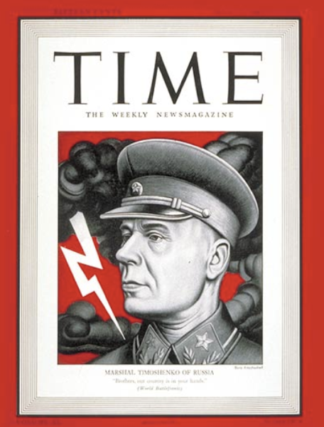 TIME Magazine Cover Marshal Timoshenko  July 27 1942  Russia  Military  Soviet Union
