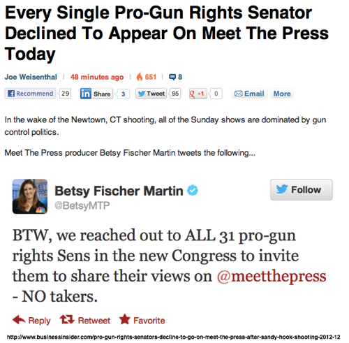 Pro Gun Rights Senators Decline To Go On Meet The Press After Sandy Hook Shooting  Business Insider 2