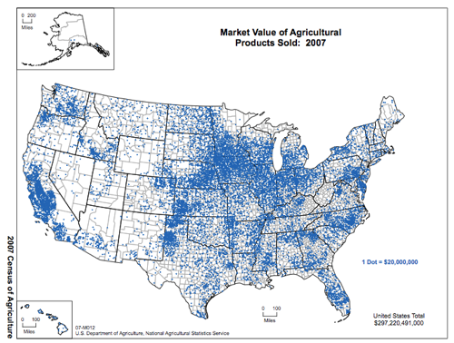 ‎www agcensus usda gov Publications 2007 Online Highlights Ag Atlas Maps Economics Market Value of Agricultural Products Sold 07 M012 RGBDot1 largetext pdf