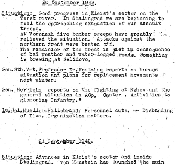 Liveblogging World War II: September 24, 1942