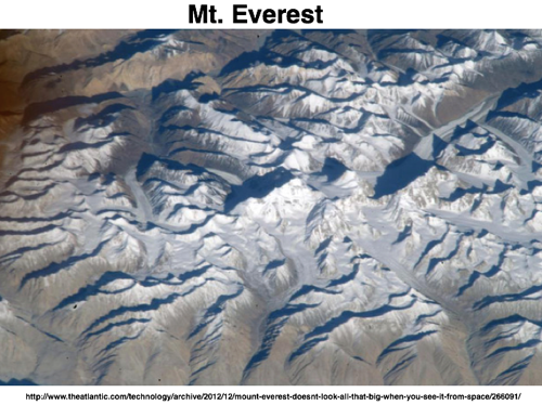 Mount Everest Doesn t Look All That Big When You See It From Space  Rebecca J Rosen  The Atlantic 1