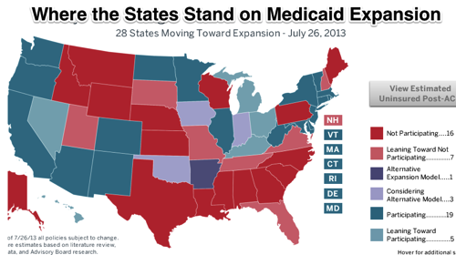 Beyond the pledges Where the states stand on Medicaid The Advisory Board Daily Briefing