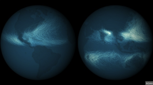 All the Hurricanes of the Past 170 Years Mapped John Metcalfe The Atlantic Cities