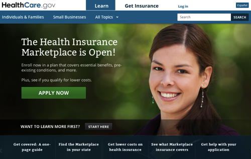 Health Insurance Marketplace Affordable Care Act HealthCare gov