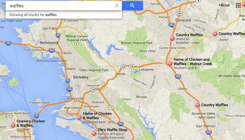 Waffles Google Maps