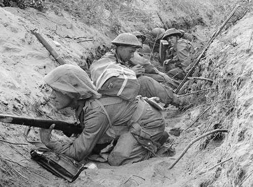 File Men of D Company 1st Battalion The Green Howards occupy a captured German communications trench during the offensive at Anzio Italy 22 May 1944 NA15297 jpg Wikipedia the free encyclopedia
