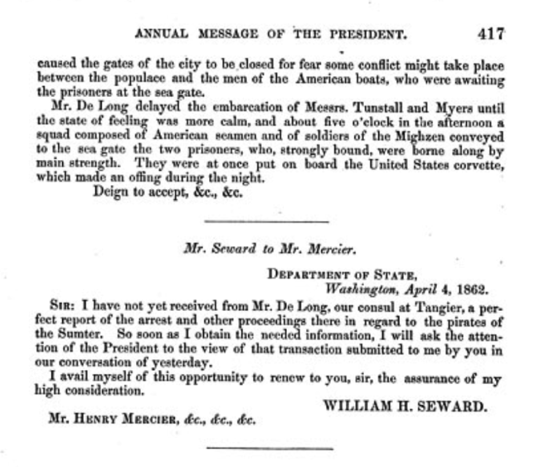 FRUS Message of the President of the United States to the two houses of Congress at the commencement of the third session of the thirty seventh congress Correspondence