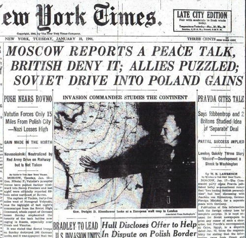 MOSCOW REPORTS A PEACE TALK BRITISH DENY IT ALLIES PUZZLED 1 18 44