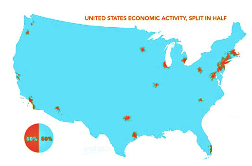 Map of the Day America s Cities Are the Real America Mother Jones
