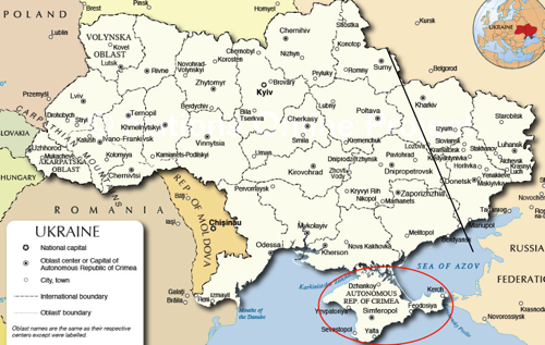 Political Map of Ukraine Nations Online Project 3