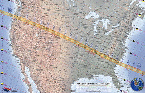 The 2017 total solar eclipse awarded to the United States