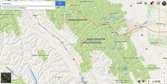 Kootenay Google Maps