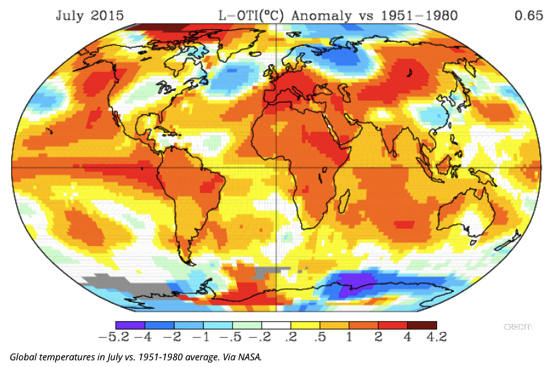 Hottest July On Record Keeps 2015 On Track To Crush 2014 For Hottest Year ThinkProgress