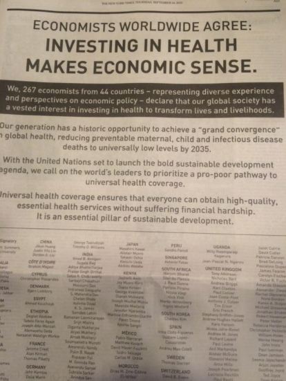 Lawrence H Summers on Twitter Today s nytimes 266 economists join me to declare investing in health makes economic sense http t co Gf2zpoSnVs