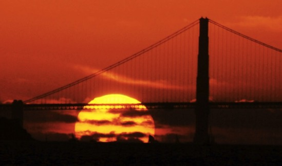 Sunset behind the golden gate Google Search