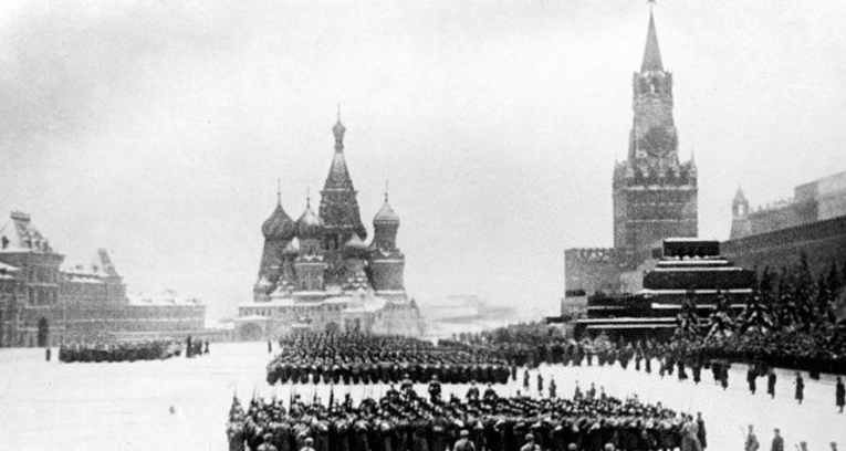 Stalin reviewing parade in red square Google Search