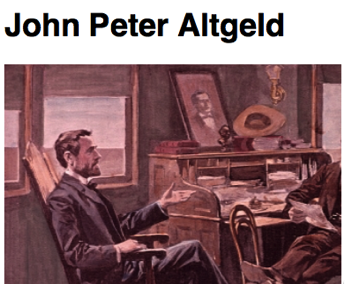 Cursor and Preview of John Peter Altgeld Wednesday Economic History