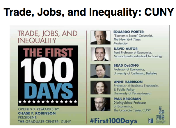Trade Jobs and Inequality CUNY