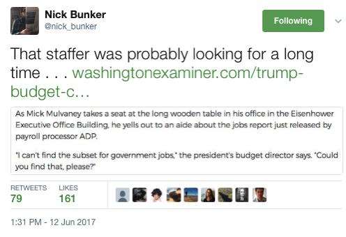 Nick Bunker on Twitter That staffer was probably looking for a long time https t co VTYtRS4TJU https t co mvFkKu2i3b