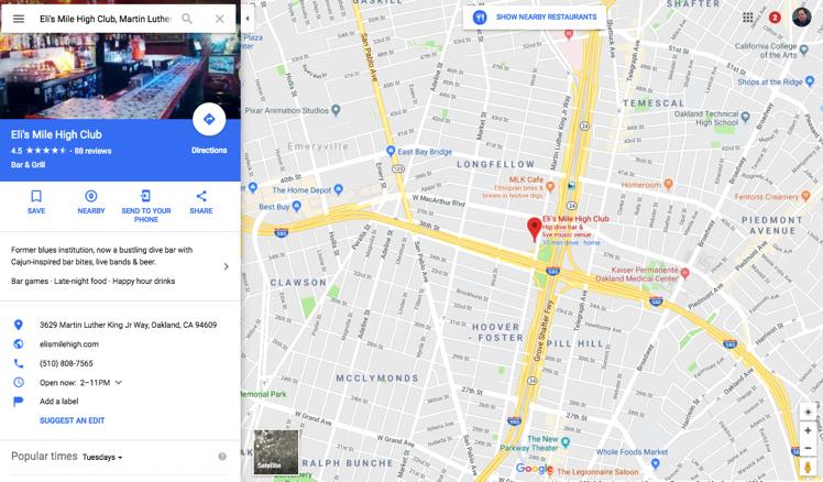 Eli s Mile High Club Google Maps