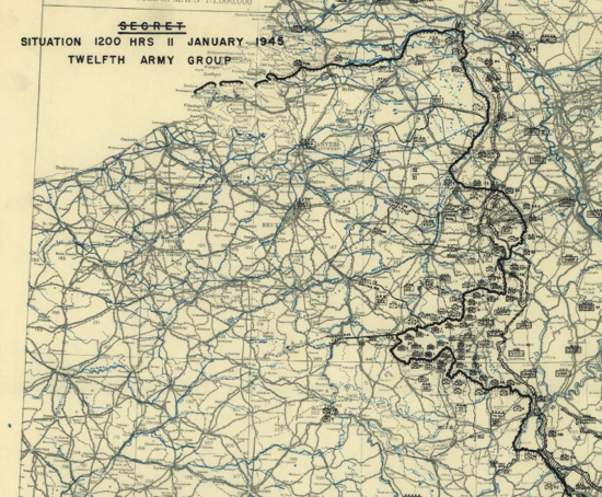 January 11 1945 HQ Twelfth Army Group situation map Library of Congress