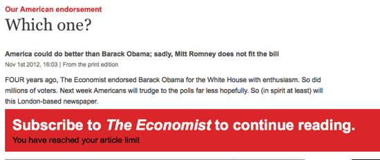 Our American endorsement Which one The Economist