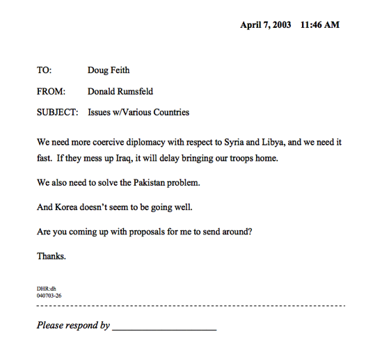 Hoisted From Others Archives The Rumsfeld Memo