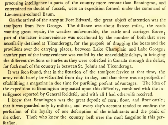 Burgoyne The State of the Expedition from Canada pdf page 31 of 248