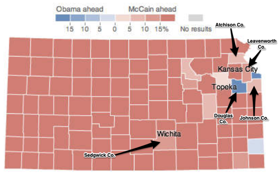 Kansas Election Results 2008 The New York Times
