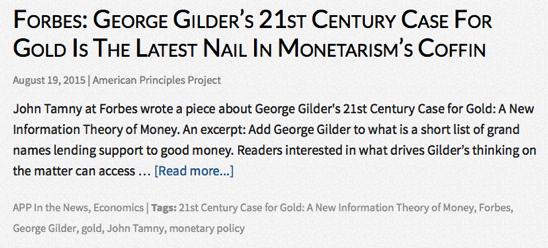 You searched for george gilder American Principles Project