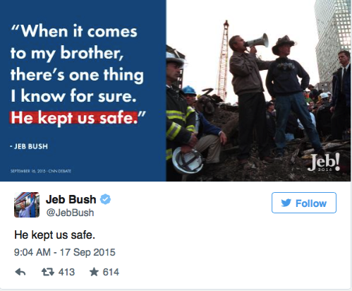 Jeb Bush is forgetting something important when he says his brother kept us safe Vox