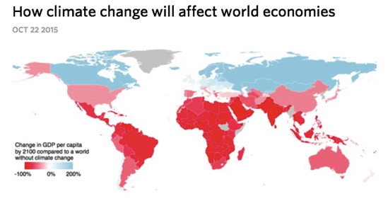 How climate change will affect world economies