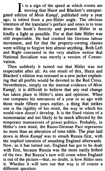 Review Of Mein Kampf by Adolf Hitler March 1940 George Orwell Google Drive