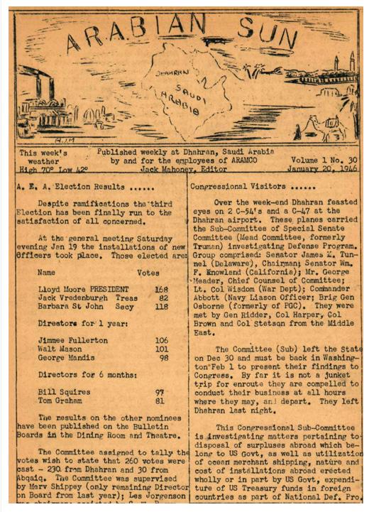January 20 1946 Arabian Sun
