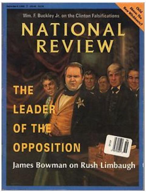 National Review Magazine Rush Limbaugh Cover September 6 1993 Issue eBay